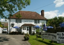 The Swan Inn, Barton Tracey, our first overnight.