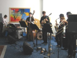 The College Jazz Group played for us